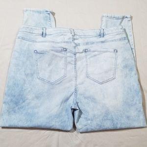 Lane Bryant Acid Wash Skinny Jeans Size 24R